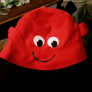 Crab face Toddler UV Sun Hat